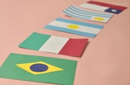 Guirnalda con banderas de los países del Mundial